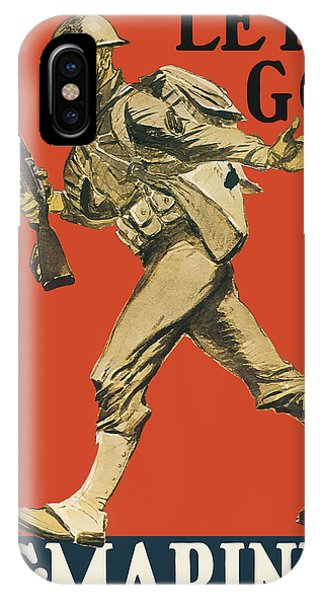 Wwi iPhone Case - Let's Go - Vintage Marine Recruiting by War Is Hell Store