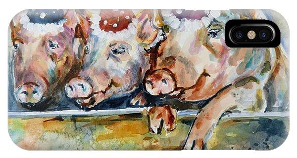 Let's Have A Piggy Party IPhone Case