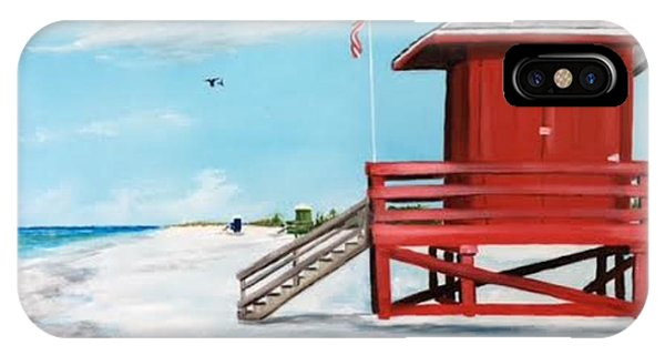 Let's Meet At The Red Lifeguard Shack IPhone Case