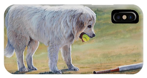 Let's Play Ball - Great Pyrenees IPhone Case