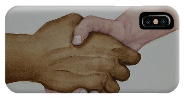 Let's Shake Hands On It IPhone Case