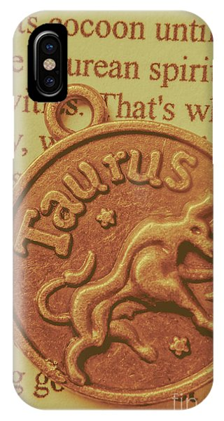 Bull Art iPhone Case - Letter Of Zodiac Taurus by Jorgo Photography - Wall Art Gallery