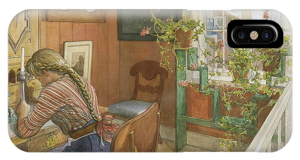 Art And Craft iPhone Case - Letter-writing by Carl Larsson