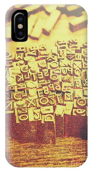Business iPhone Case - Letterpress Industrial Pop Art by Jorgo Photography - Wall Art Gallery
