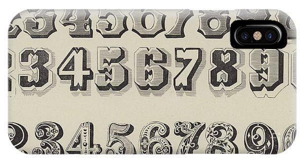 Letters And Numbers IPhone Case