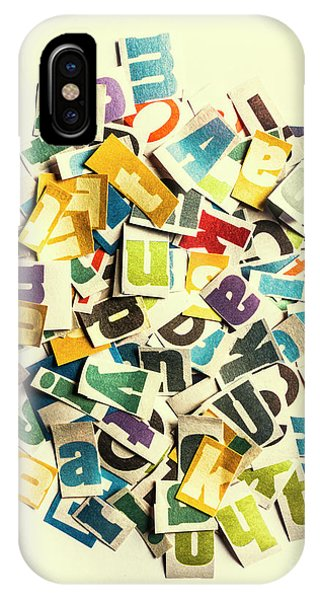 Cutout iPhone Case - Letters In Jumble by Jorgo Photography - Wall Art Gallery