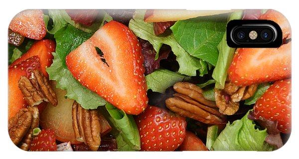 Lettuce Strawberry Plum Salad IPhone Case