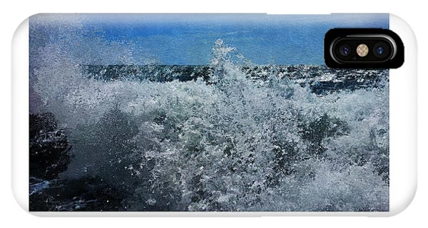 IPhone Case featuring the digital art Levant Spray by Julian Perry