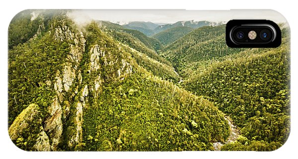 Greenery iPhone Case - Leven Canyon Reserve Tasmania by Jorgo Photography - Wall Art Gallery