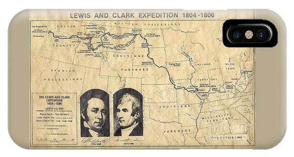 Lewis And Clark Expedition Map IPhone Case