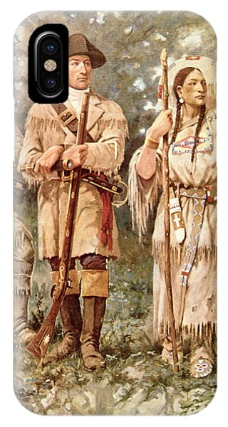 Explorer iPhone Case - Lewis And Clark With Sacagawea by Edgar Samuel Paxson