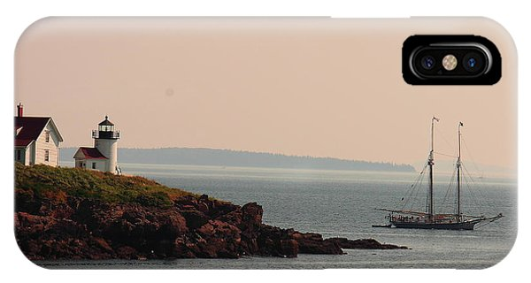Lewis R French At The Curtis Island Lighthouse IPhone Case