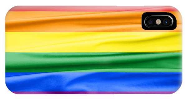 Gay Pride Flag iPhone Case - Lgbt Rainbow Banner by Semmick Photo