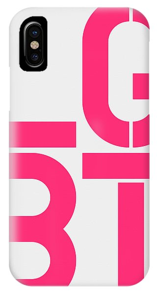 Lgbt iPhone Case - Lgbt White And Pink by Three Dots