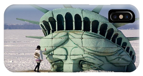 Statue Of Liberty iPhone Case - Liberty by Linda Mishler