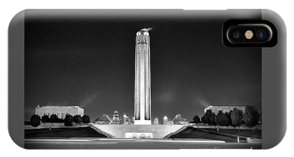 Liberty Memorial In Kansas City Bw IPhone Case