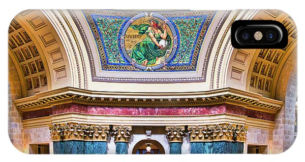 Liberty Mural - Capitol - Madison - Wisconsin IPhone Case