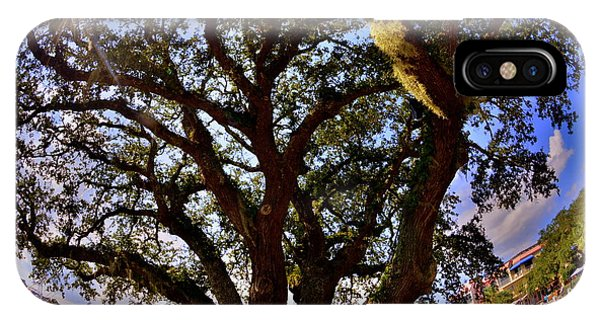 IPhone Case featuring the photograph Liberty Oak Harbour Town Hilton Head Sc by Lisa Wooten