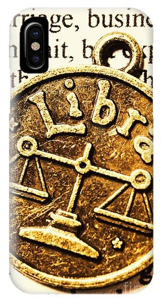Mythology iPhone Case - Libra Star Sign by Jorgo Photography - Wall Art Gallery