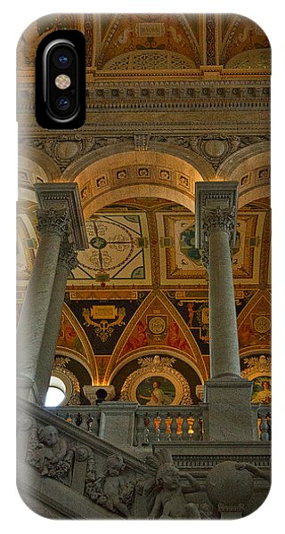 Library Of Congress Staircase IPhone Case