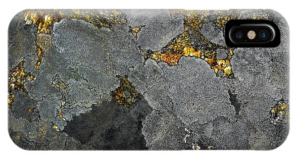 Lichen On Granite Rock Abstract IPhone Case