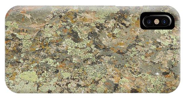 Lichens On Boulder IPhone Case