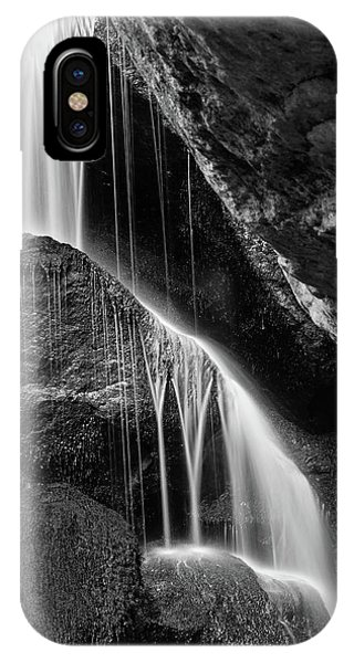 Lichtenhain Waterfall - Bw Version IPhone Case