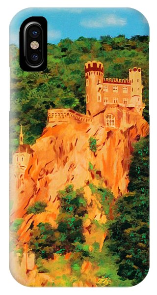 IPhone Case featuring the painting Lichtenstein Castle by Deborah Boyd