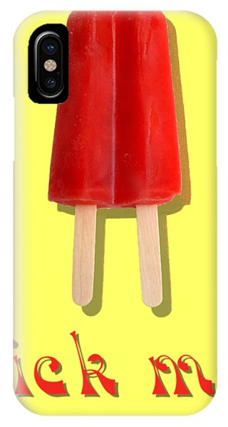 Freeze iPhone Case - Lick Me Popsicle Tee by Edward Fielding
