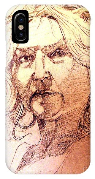 Life Drawing Sepia Portrait Sketch Medusa IPhone Case