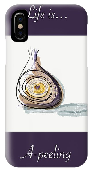 Life Is A-peeling IPhone Case