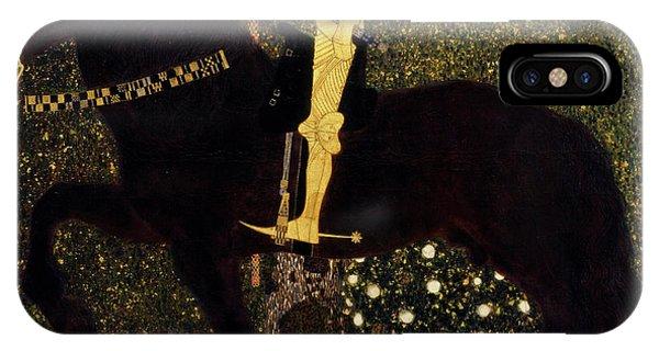 Struggle iPhone Case - Life Is A Struggle, Golden Rider by Gustav Klimt