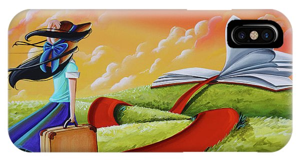 Imagination iPhone Case - Life Is An Open Book by Cindy Thornton