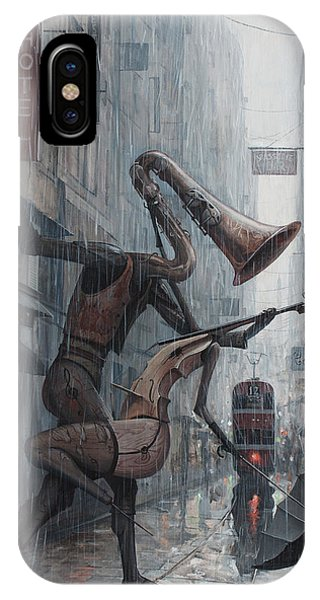 Life iPhone Case - Life Is  Dance In The Rain by Adrian Borda