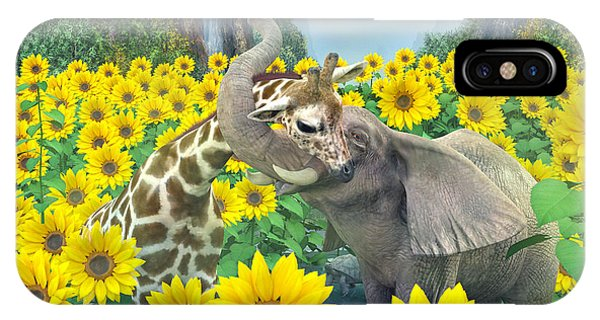 Sunflower iPhone Case - Life Is Good by Betsy Knapp