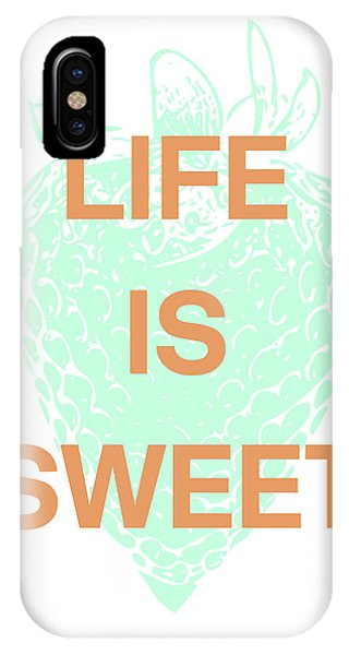 Aqua iPhone Case - Life Is Sweet- Art By Linda Woods by Linda Woods
