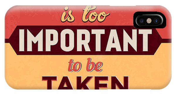 Witty iPhone Case - Life Is Too Important by Naxart Studio