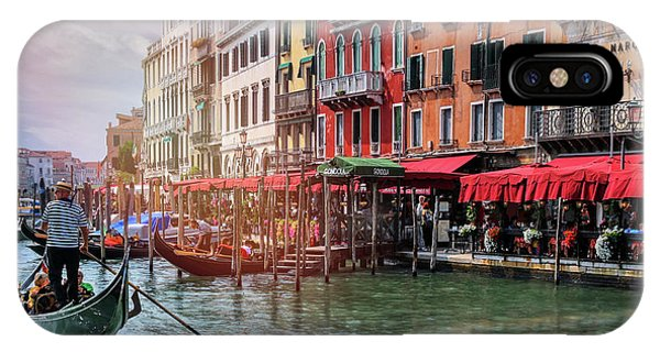 Life On The Grand Canal Venice Italy  IPhone Case
