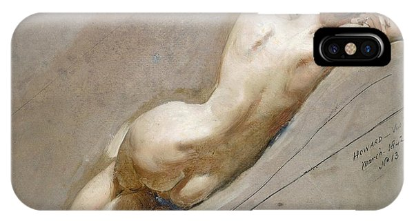 Nudes iPhone X Case - Life Study Of The Female Figure by William Edward Frost