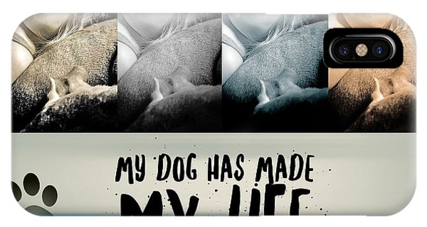 Life With My Dog IPhone Case