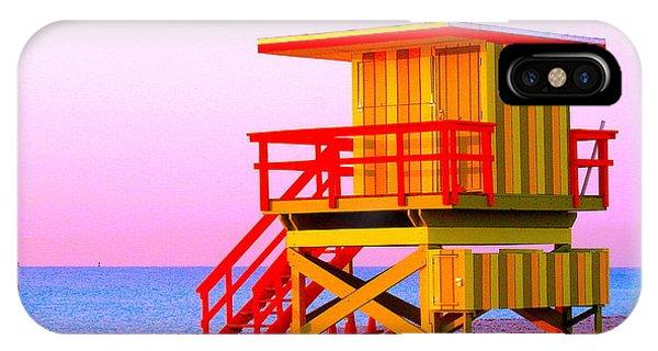 Lifeguard Stand Miami Beach IPhone Case