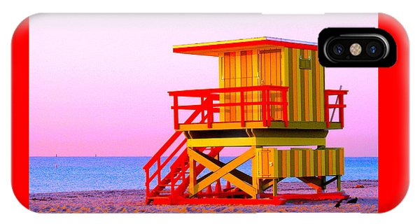 Lifeguard Stand Miami Beach IPhone Case