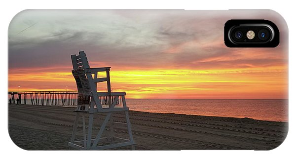 Lifeguard Stand On The Beach At Sunrise IPhone Case