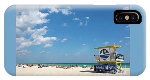 IPhone Case featuring the photograph Lifeguard Station Miami Beach Florida by Steven Frame