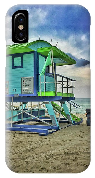 Lifeguard Station - Miami Beach IPhone Case