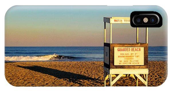 Lifeguard Stand At Ocean City Nj IPhone Case