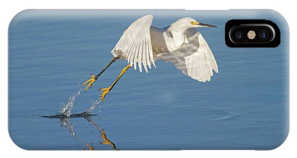 Lift Off- Snowy Egret IPhone Case