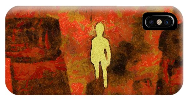 Strange iPhone Case - Light Being Of Stonehenge by Esoterica Art Agency