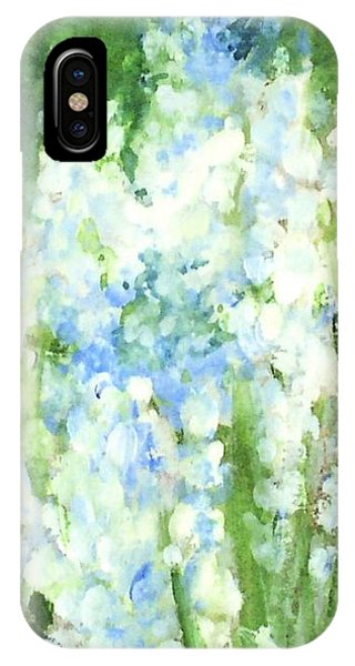 Light Blue Grape Hyacinth. IPhone Case
