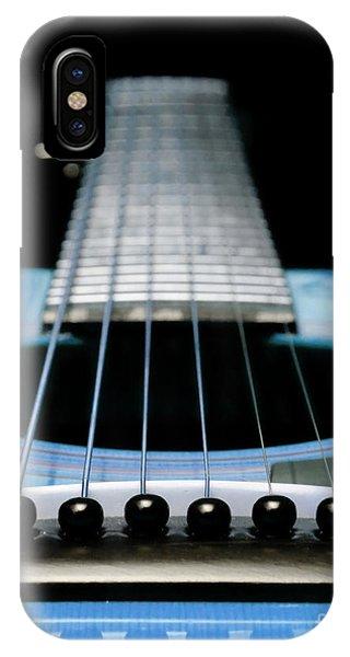 Light Blue Guitar 13 IPhone Case